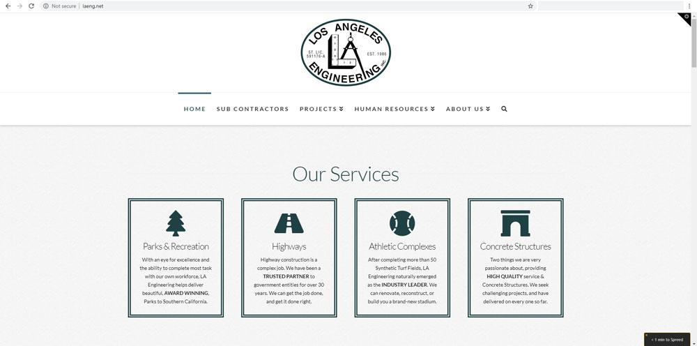 Los Angeles Engineering Website
